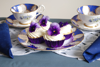 fairy cakes white choc blue china