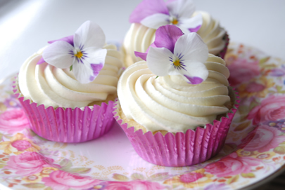 fairy cakes white choc pink china