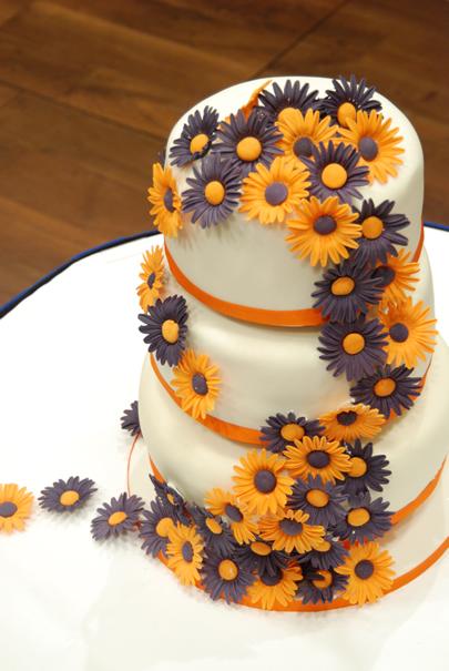 wedding cake gerber above