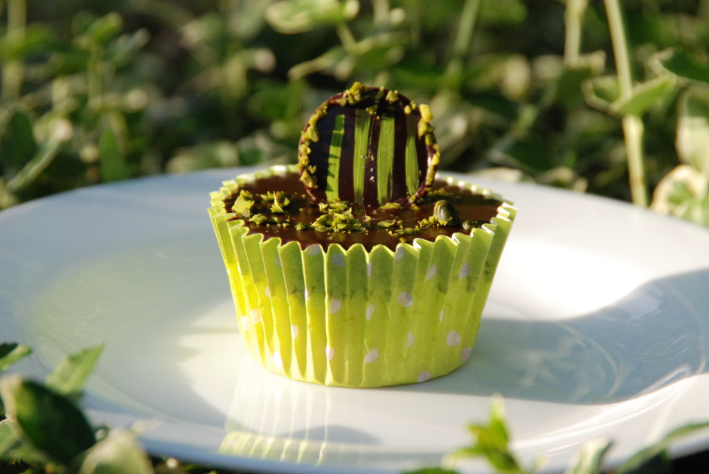 Chocolate and Pistachio Ganache Cupcake 2